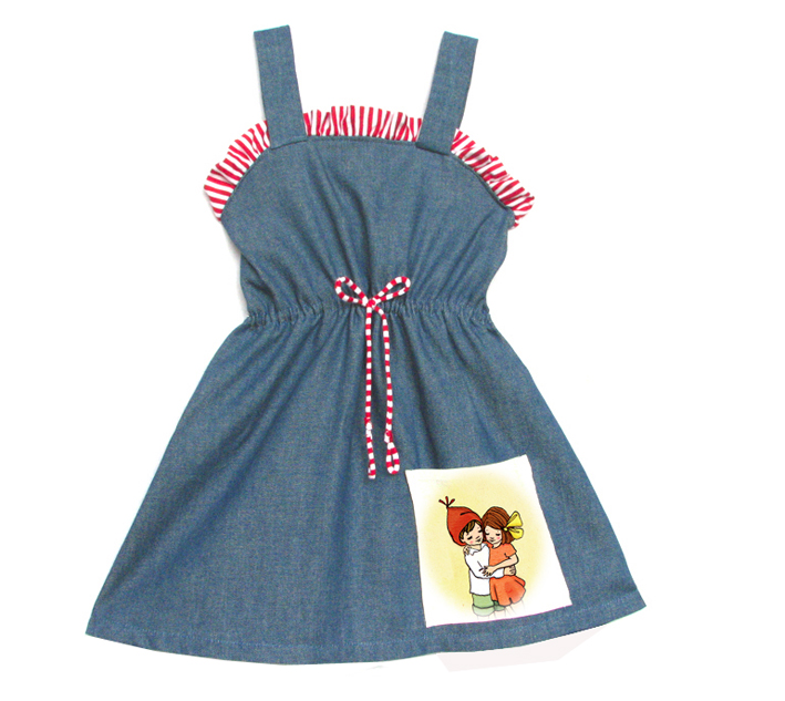 01 Stripe Denim dress