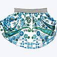 Blue garden cotton skirt