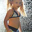 sunshine frill shorts and bikini top